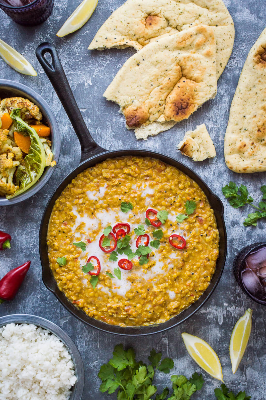 Red Lentil Dhal With Roasted Cauliflower And Butternut Squash - Recipes Lentils Vegetarian
