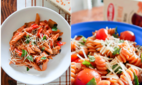 Red Lentil Penne with Eggplant & Red Pepper