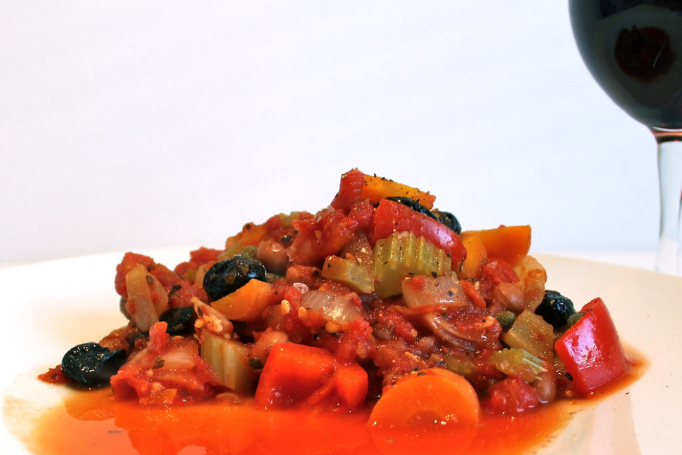 Red Pepper and Borlotti Bean Casserole - vegetarian mediterranean recipes