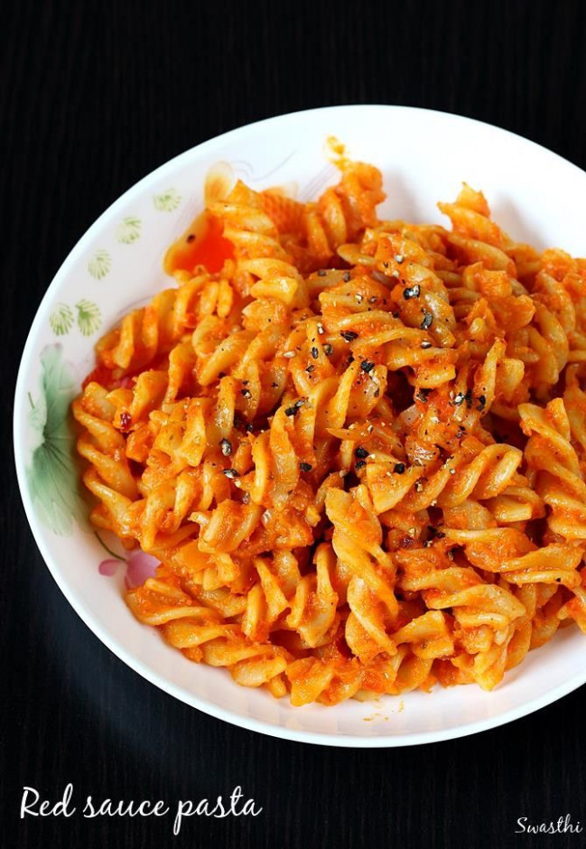 Red sauce pasta recipe | How to make red sauce pasta for ..