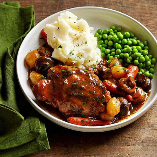 Red Wine Braised Chicken | Family Circle - Chicken Recipes Red Wine