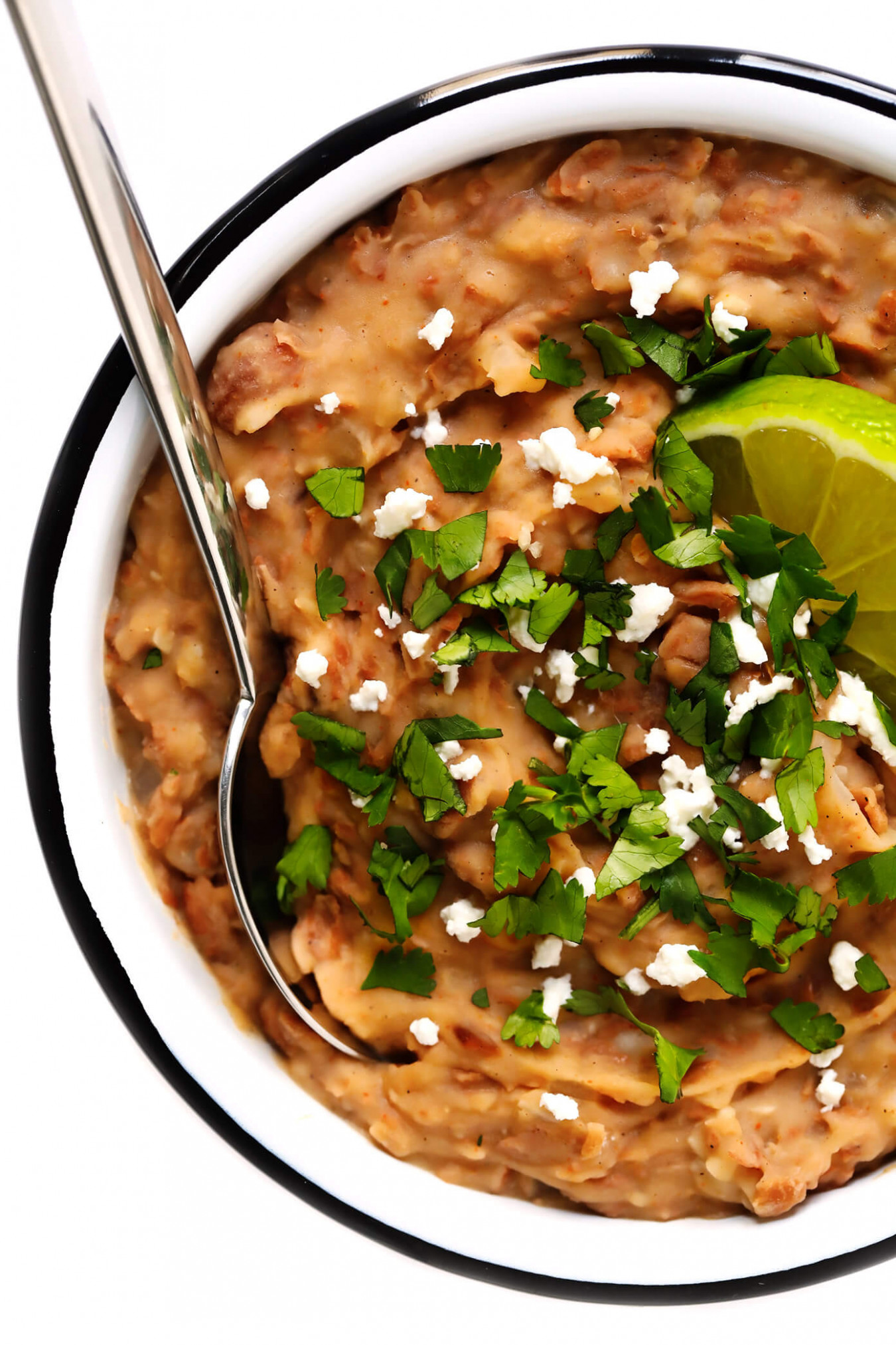 Refried Beans - recipe vegetarian refried beans