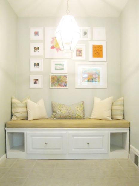 Remodelaholic | Built in Banquette from Recycled Cabinet - healthy recipes instagram