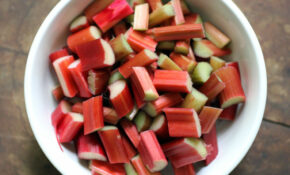 Rhubarb Strawberry Indian Pickle – Indian Recipes Vegetarian