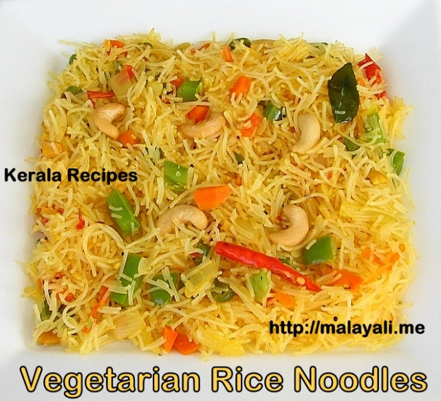 Rice Noodles With Vegetables « Kerala Recipes - Recipe Vegetarian Rice Noodles