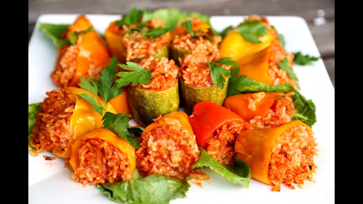 Rice Stuffed Bell Peppers Recipe - Heghineh Cooking Show ..