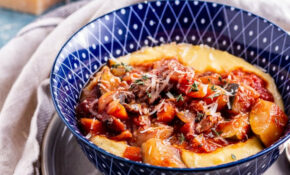 Rich Vegetable Stew With Creamy Polenta • The Cook Report – Polenta Recipes Vegetarian