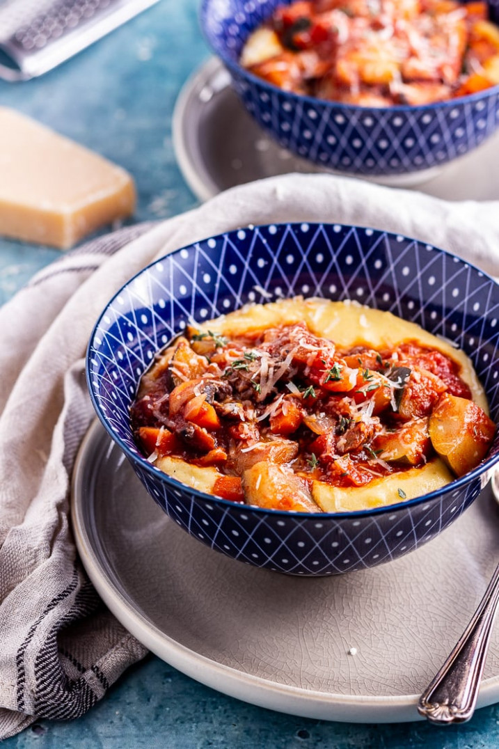 Rich Vegetable Stew with Creamy Polenta • The Cook Report - polenta recipes vegetarian