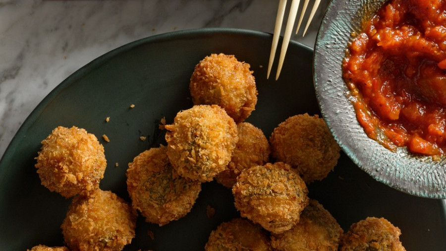 Ricotta and Sage Fried Meatballs Recipe | Bon Appetit - ricotta recipes dinner