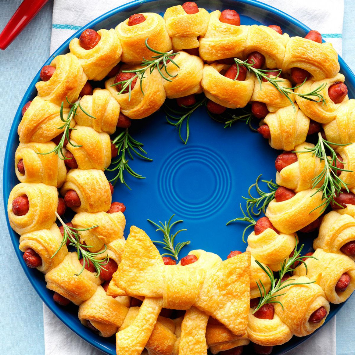 Ring of Piggies Recipe | Taste of Home - easy finger food recipes to make ahead