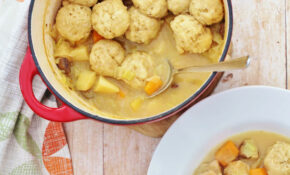 Roast Chicken Leftovers Stew With Easy Peasy Dumplings – Recipes With Leftover Chicken