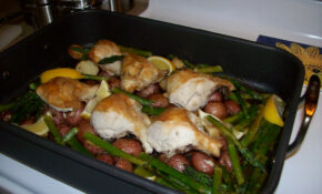 Roast Chicken With Potatoes, Aspragus And Lemon – Recipes Asparagus And Chicken