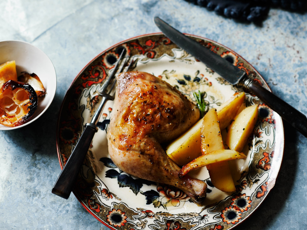 Roast Chicken with Rosemary and Lemon - rosemary recipes chicken