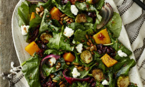 Roasted Autumn Veggie Salad With Baby Kale – Autumn Recipes Vegetarian