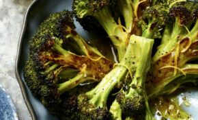 Roasted Broccoli With Lemon Garlic Vinaigrette – Broccoli Recipes Vegetarian