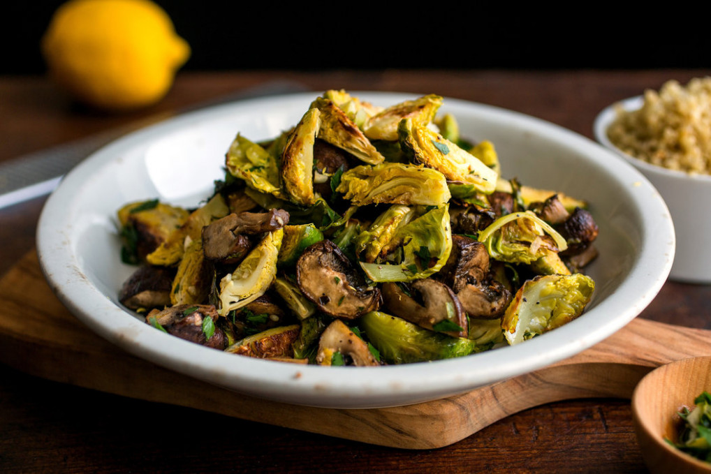 Roasted Brussels Sprouts and Mushrooms With Gremolata and ..
