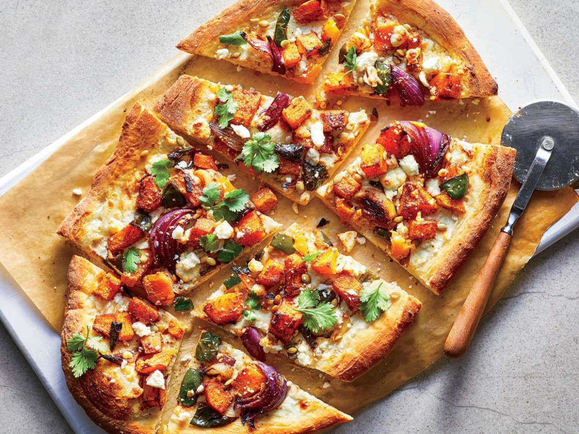 Roasted Butternut Squash and Poblano Pizza Recipe ..