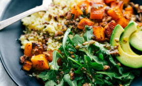 Roasted Butternut Squash Couscous Bowls | Chelsea's Messy Apron – Vegan Recipes Dinner Zucchini