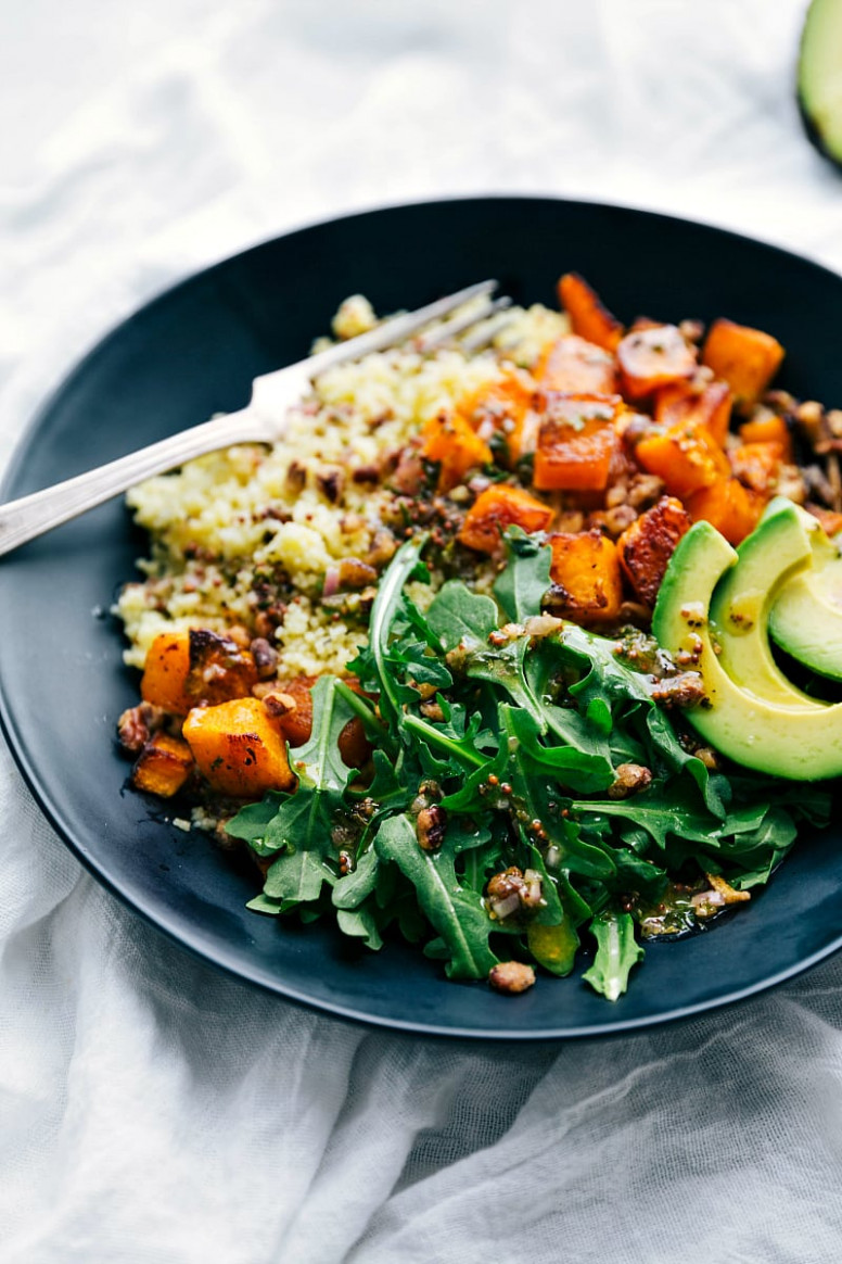 Roasted Butternut Squash Couscous Bowls | Chelsea's Messy Apron - Vegan Recipes Dinner Zucchini