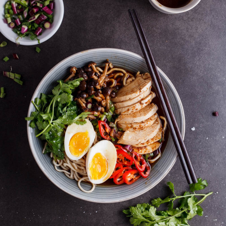 Roasted Chicken Ramen With Shimeji Mushrooms - Simply ..