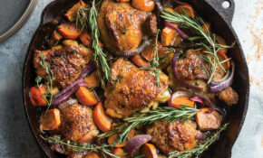 Roasted Chicken Thighs With Persimmons & Red Onion – Chicken Recipes Thighs