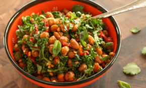 Roasted Chickpea And Kale Salad With Sun Dried Tomato Vinaigrette Recipe – Nut Recipes Vegetarian