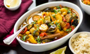 Roasted Eggplant, Chickpea And Summer Vegetable Tagine ..