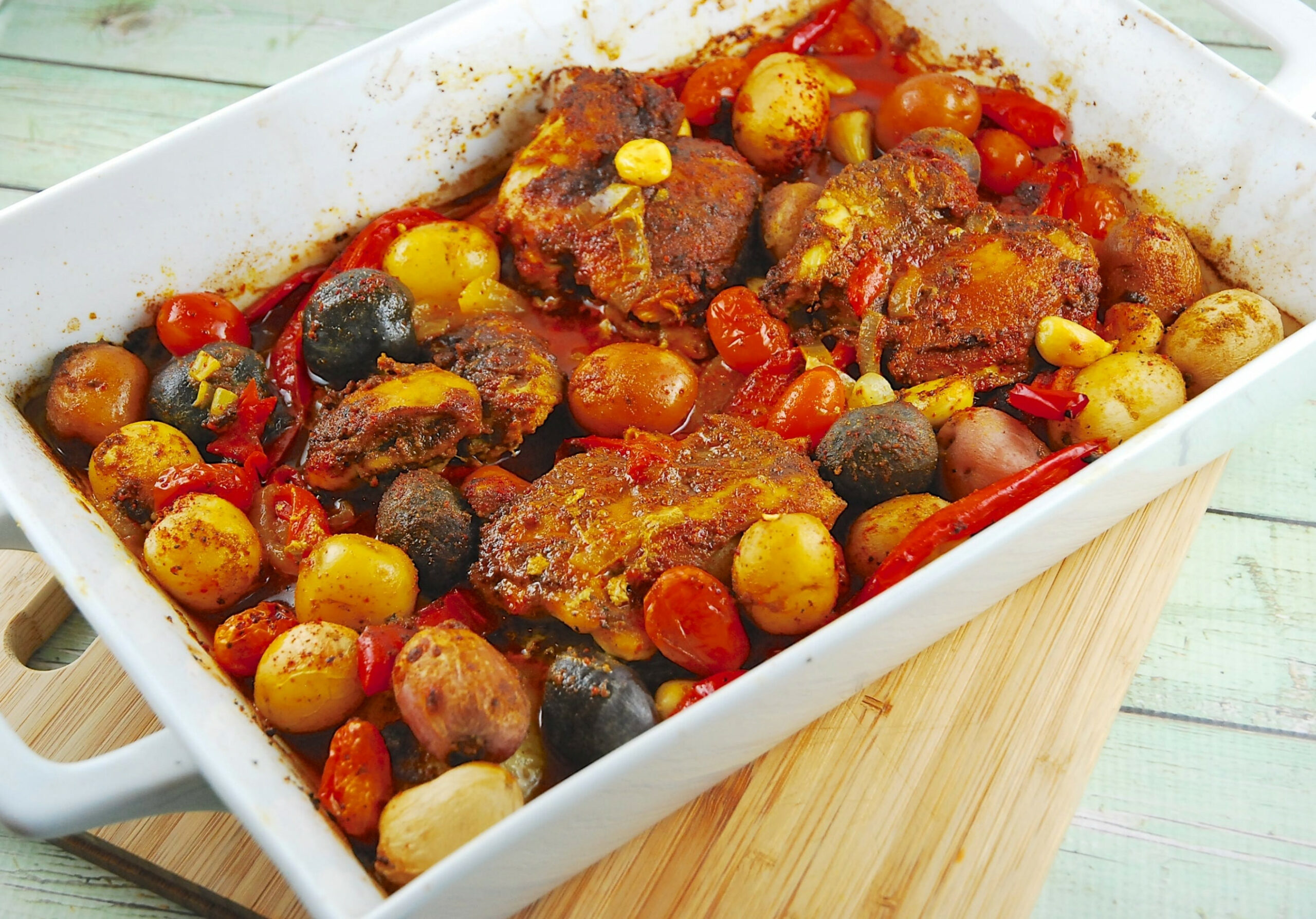 Roasted Middle Eastern Chicken with Potatoes - recipes middle eastern food