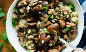 Roasted Mushrooms With Herbed Quinoa – Healthy Recipes Epicurious