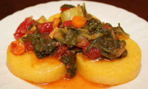 Roasted Polenta With Swiss Chard – Polenta Recipes Vegetarian