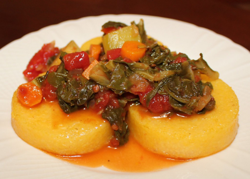 Roasted Polenta with Swiss Chard - polenta recipes vegetarian