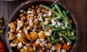 Roasted Sweet Potato, Cauliflower, Chickpea, And Green ..