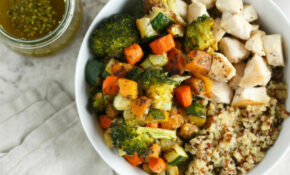 Roasted Vegetable And Chicken Quinoa Bowls For Two Recipe ..