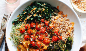 Roasted Vegetable And Farro Grain Bowl – Grain Bowl Recipes Vegetarian