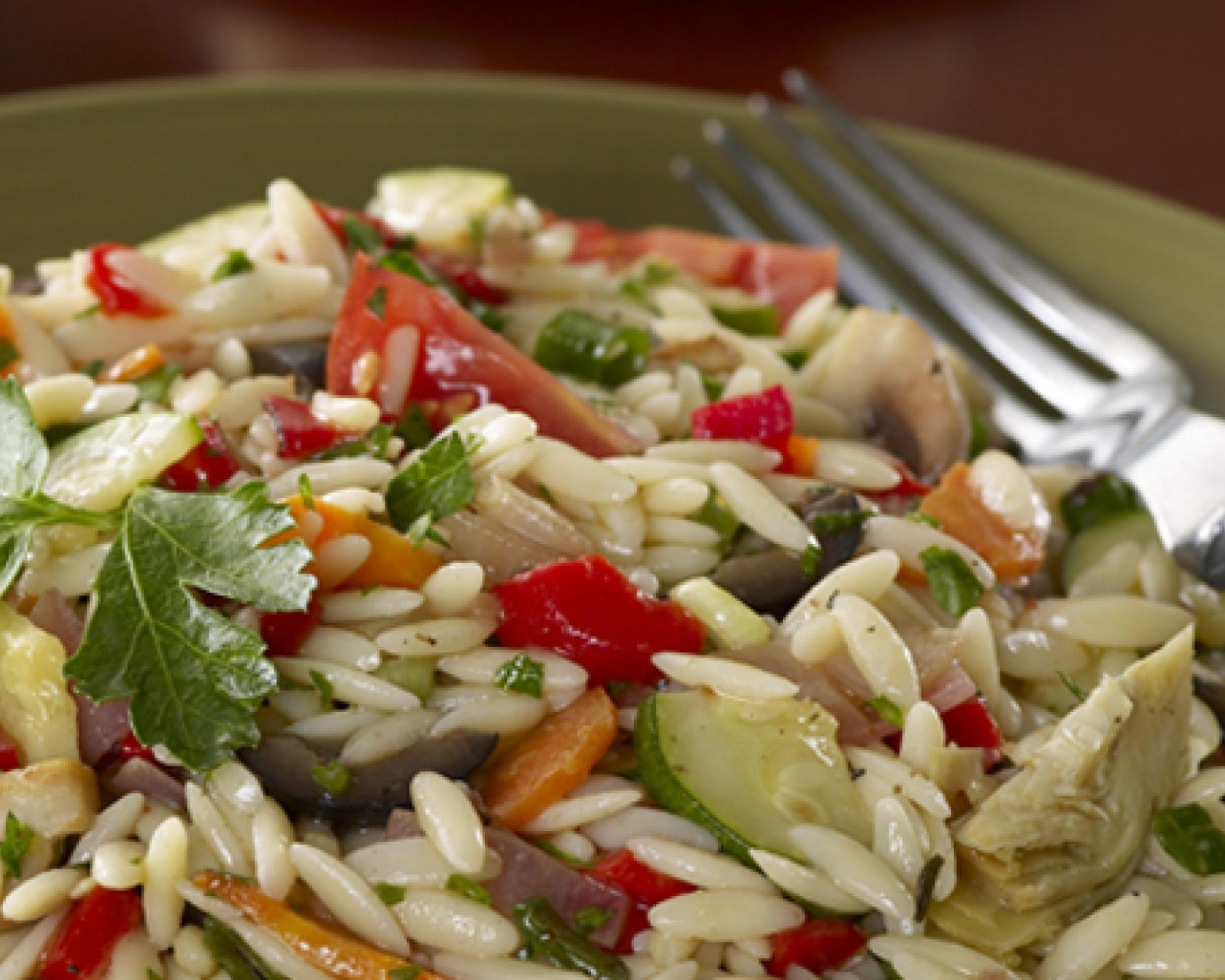 Roasted Vegetable and Orzo Salad - orzo recipes vegetarian