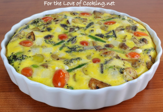 Roasted Vegetable and Swiss Cheese Baked Frittata | For ..