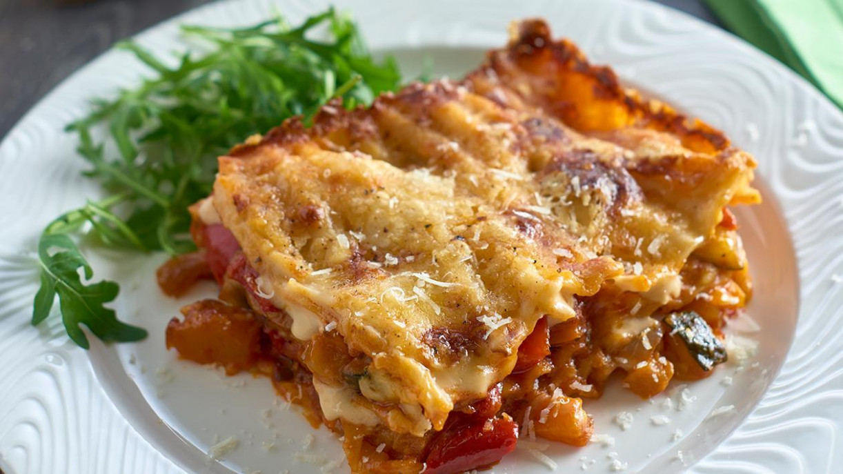 Roasted vegetable lasagne - recipes vegetarian lasagne