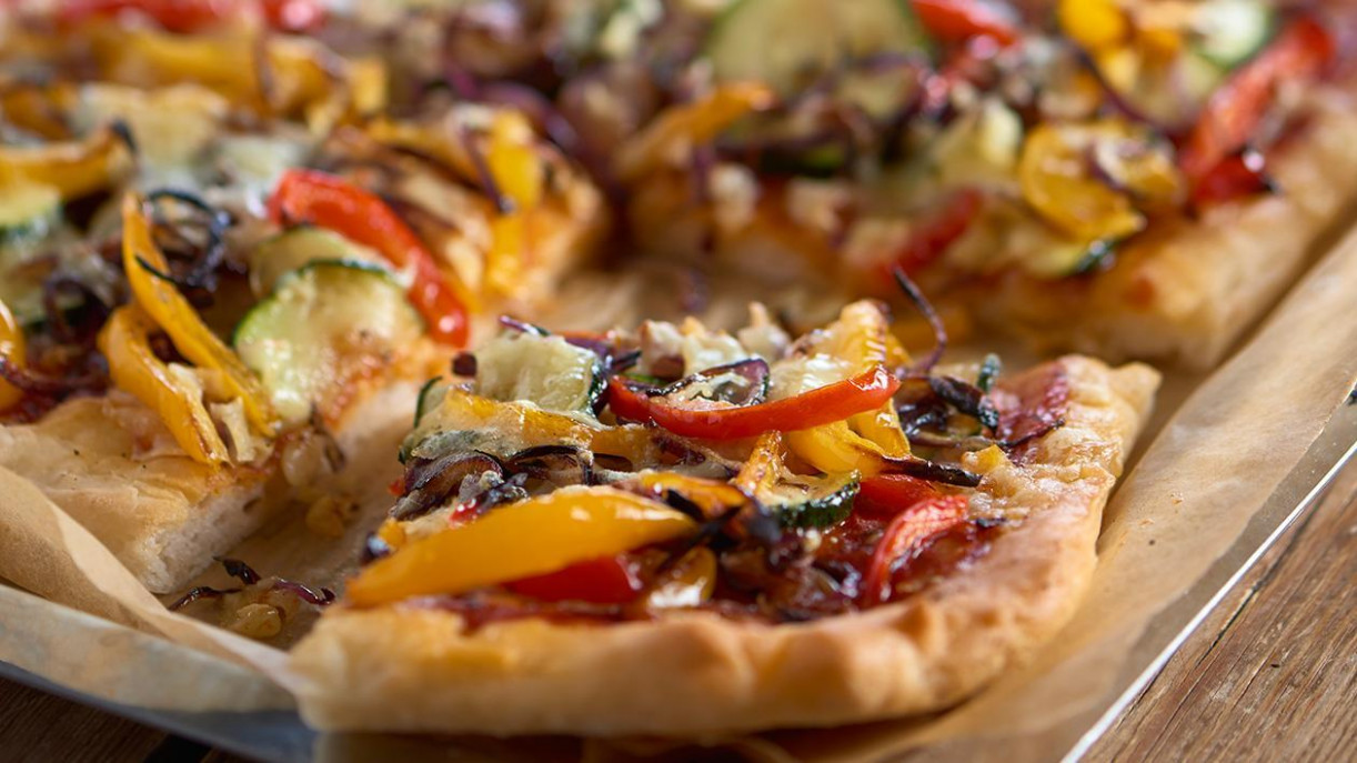 Roasted vegetable pizza - recipes vegetarian pizza