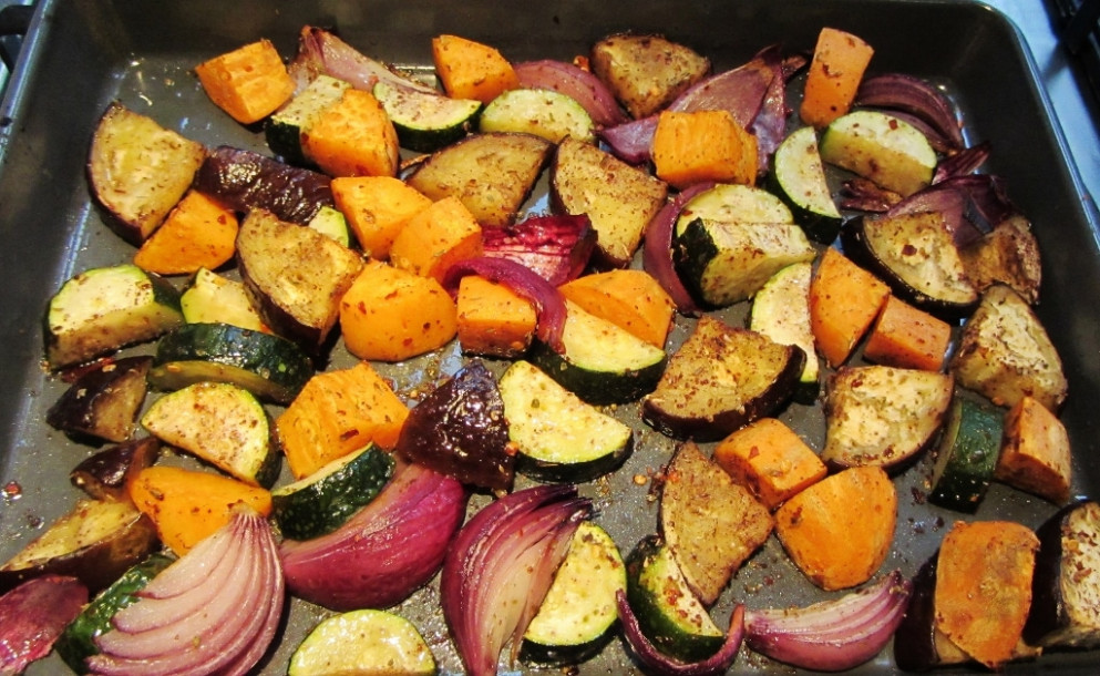 Roasted Vegetables Recipe — Dishmaps - healthy recipes roasted vegetables