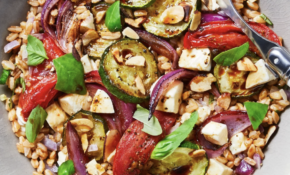 Roasted Veggie Caprese Bowl With Farro And Balsamic Vinaigrette – Recipes Easy Vegetarian
