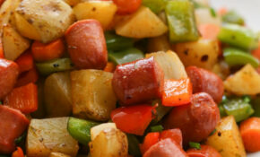 Roasted Veggie Hot Dog Hash – Recipe Vegetarian Hot Dog