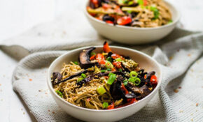 Roasted Veggie Noodle Bowl | Happy Veggie Kitchen – Noodle Recipes Vegetarian