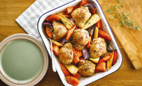 Roasted Winter Vegetable And Chicken Traybake – Tray Bake Recipes Chicken