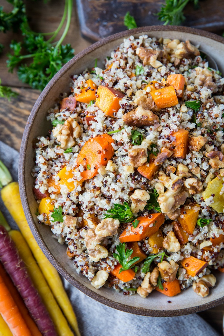 Roasted Winter Vegetable Quinoa Salad - quinoa recipes vegetarian