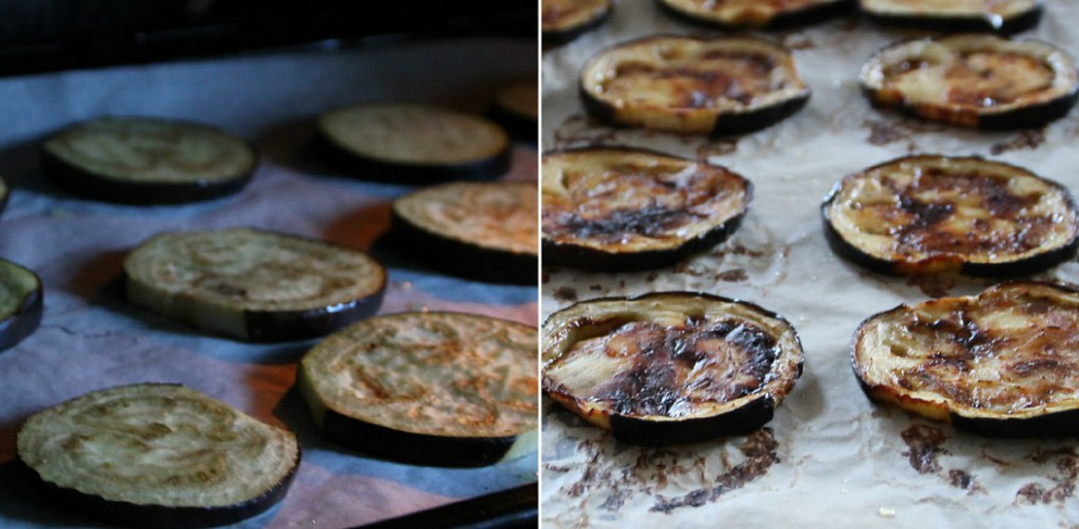 Roasting Eggplant Collage - ottolenghi recipes chicken