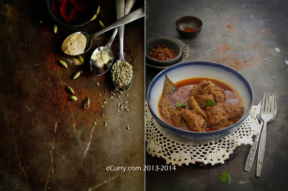 Rogan Josh Diptych 1 - north indian vegetarian curry recipes