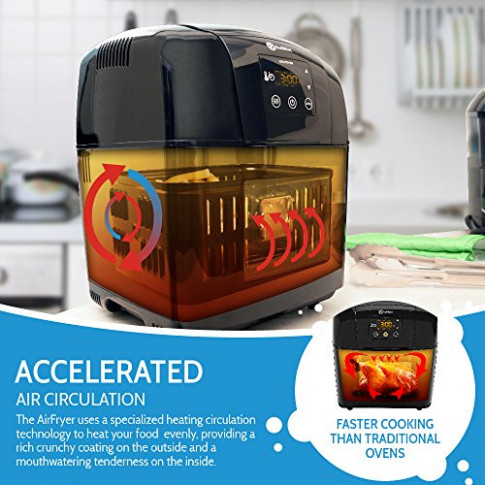 Rollibot 3.5 Qt Hot Air Fryer XL: Oil Less Power Air ..
