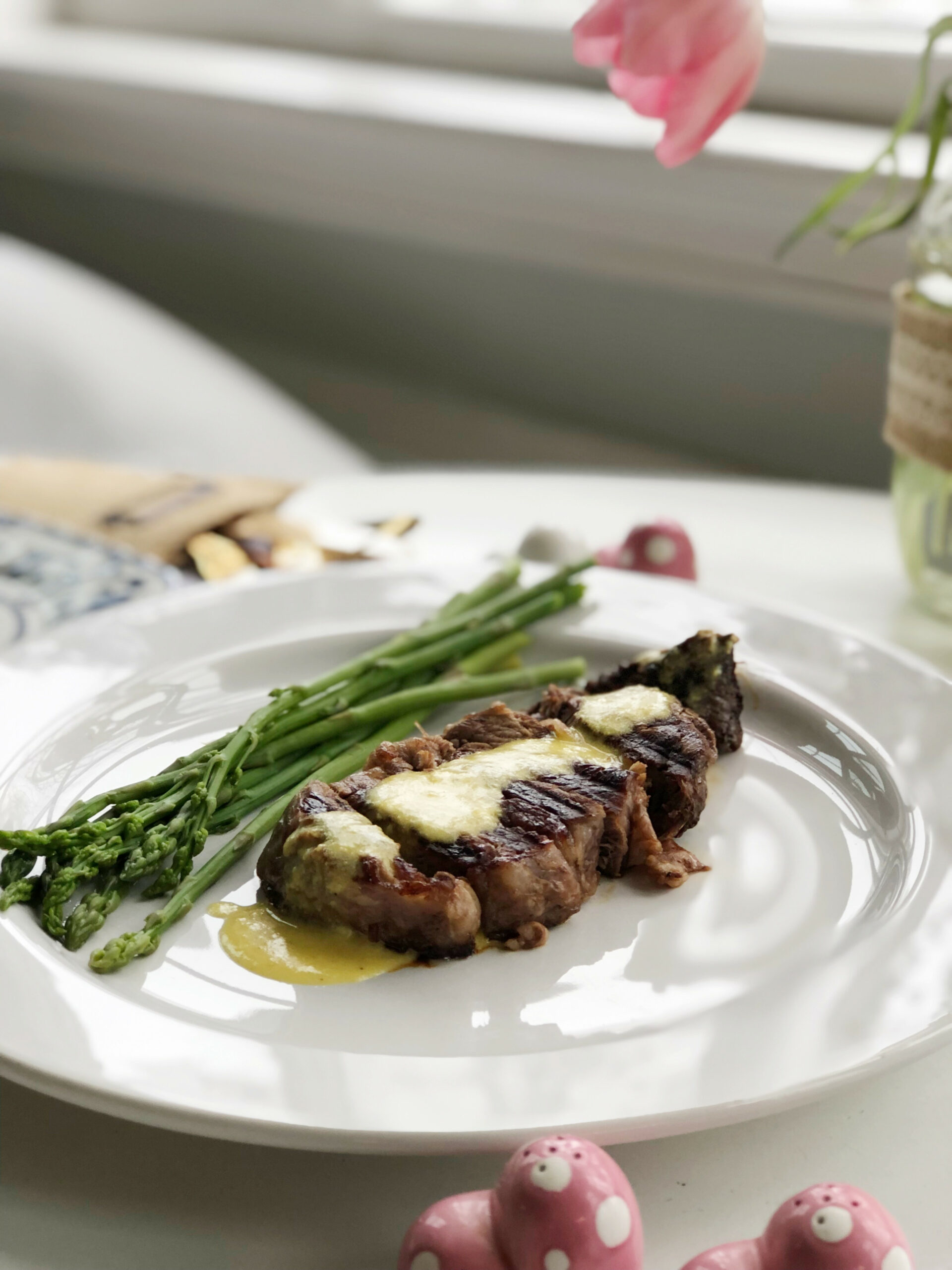 Romantic Dinner for Two-Keto Steak with Bernaise Sauce