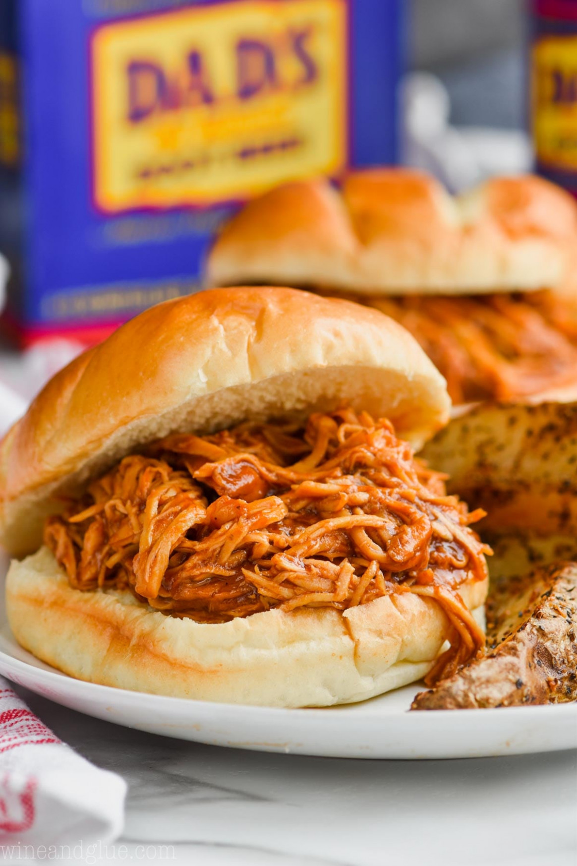 Root Beer Slow Cooker BBQ Chicken Sandwiches - recipes bbq chicken