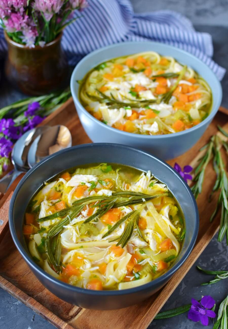Rosemary Chicken Noodle Soup - Recipes Rosemary Chicken